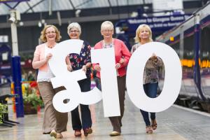 Free membership and £10 travel for passengers who sign up to ScotRail's new Club 50 scheme