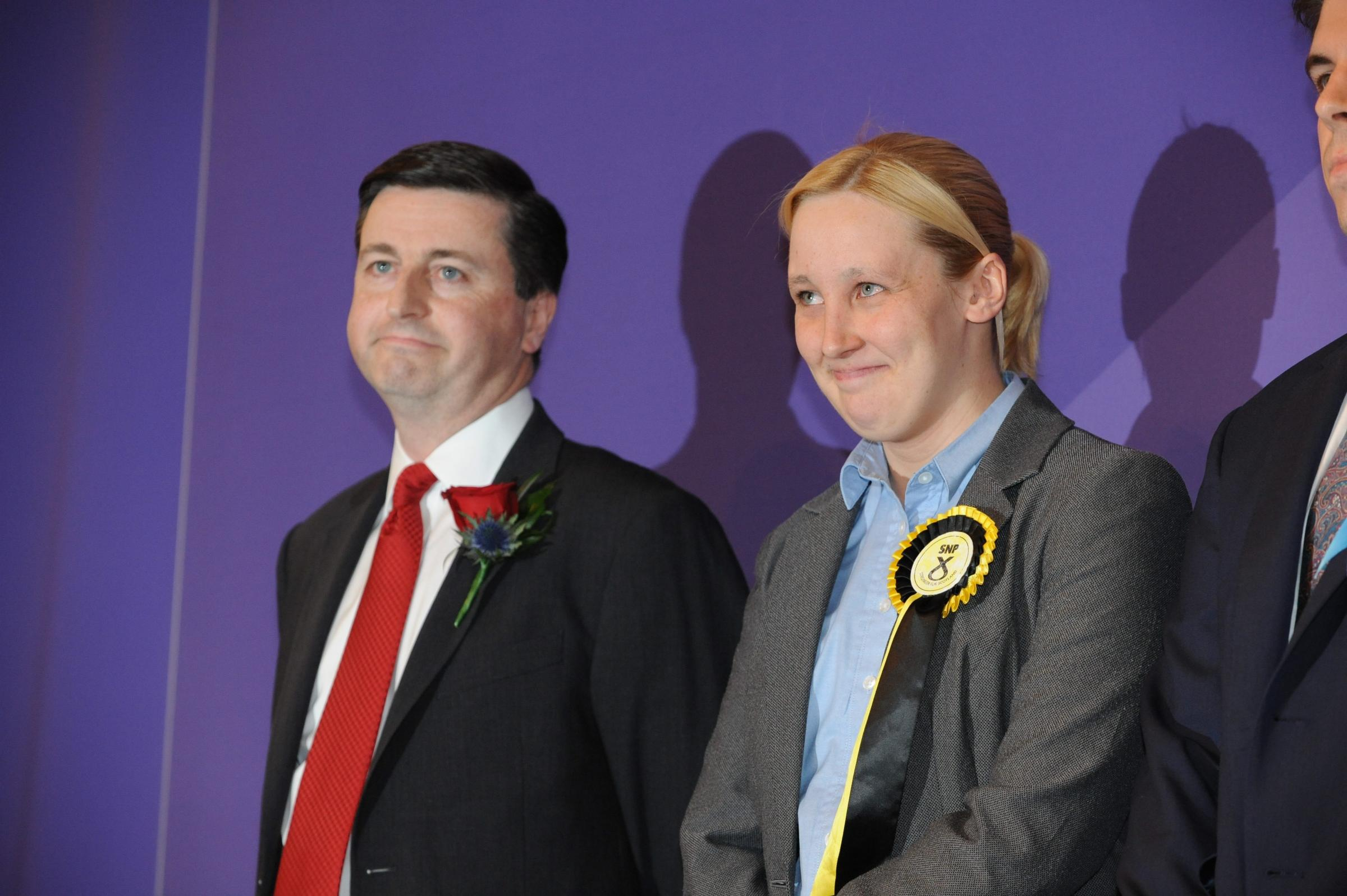 Douglas Alexander has moved on since his defeat to Mhairi Black, right, at last year's general election