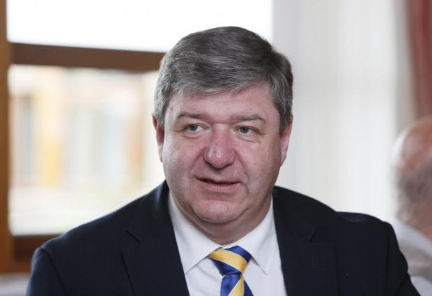 HeraldScotland: Secretary of State for Scotland, Alistair Carmichael visit to the Erskine Glasgow Home at Dorchester Avenue. .. Photograph by Colin Mearns.17 July 2014. (36235774)