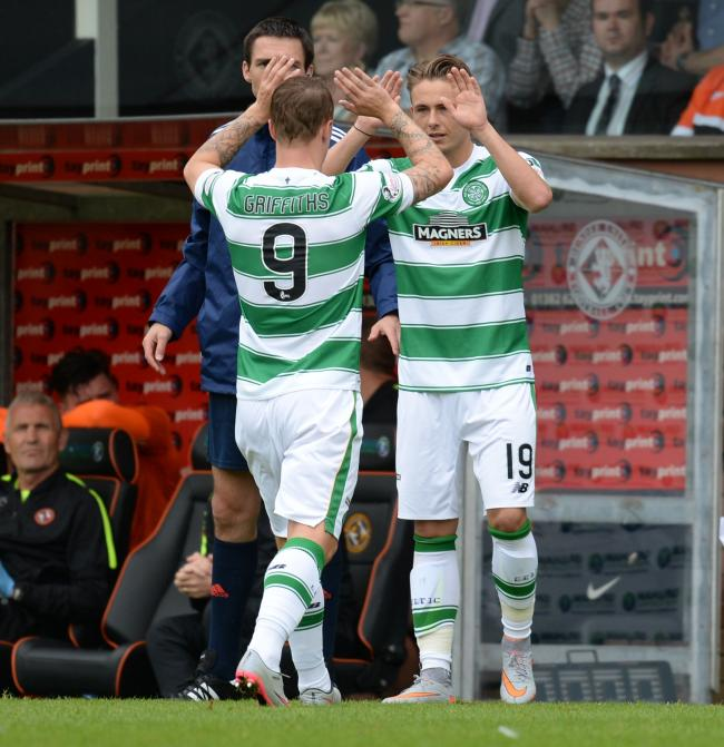 Scott Allan replaces team-mate Leigh Griffiths to make his Celtic debut
