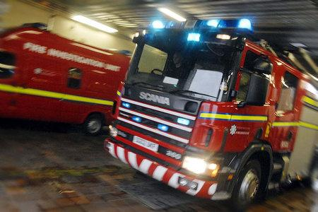Firefighters tackle large blaze at former bingo hall