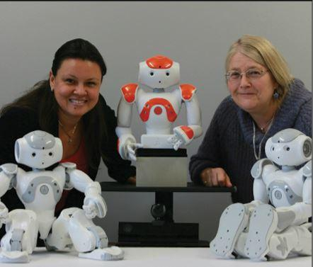 Dr Patricia Vargas of Heriot-Watt University, director of the Robotics Laboratory and Professor of Computer Science, and Ruth Aylett  Photograph: Stewart Attwood
