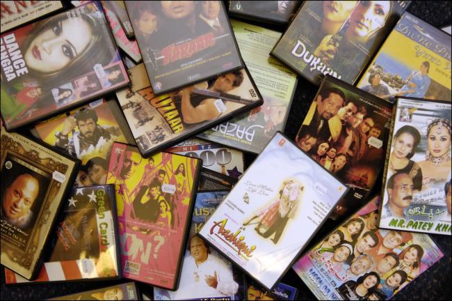 Fake Bollywood DVDs seized by trading standards officers.