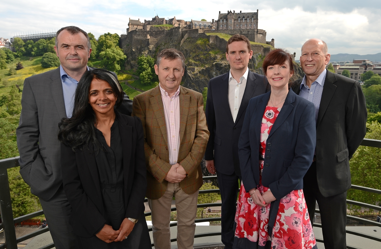 LendingCrowd management team. Fraser Lusty, head of business development, Seema Paterson, head of corporate affairs, Bill Dobbie, chairman, Stuart Lunn, chief executive, Helen McKay, credit risk specialist and Ian Cunningham, head of credit.