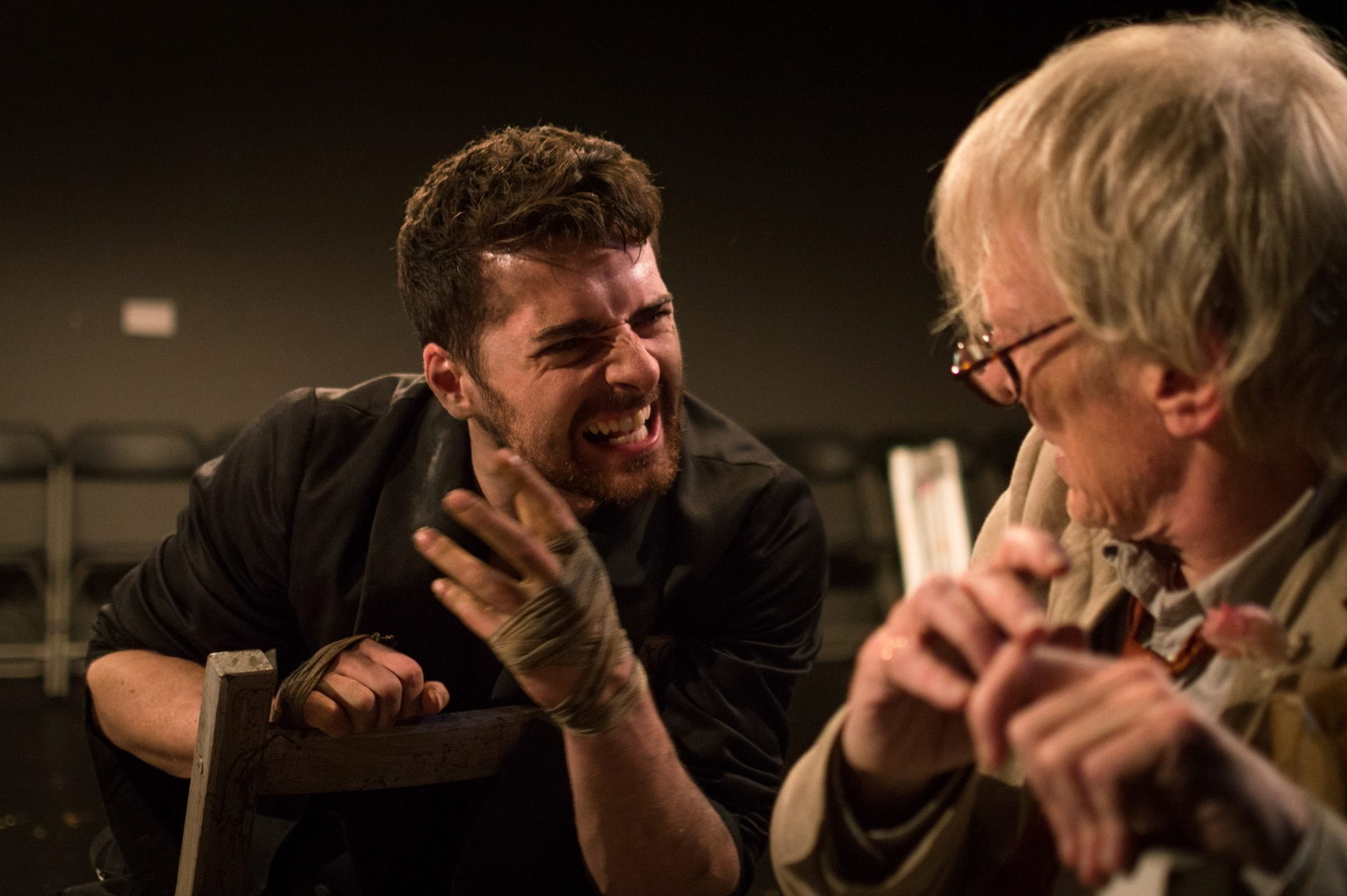 Lot and his God: Daniel Cahill as Drogheda and Cliff Burnett as Lot, pic Alex Brady