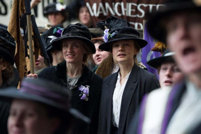 Anne-Marie Duff and Carey Mulligan in the new film Suffragette