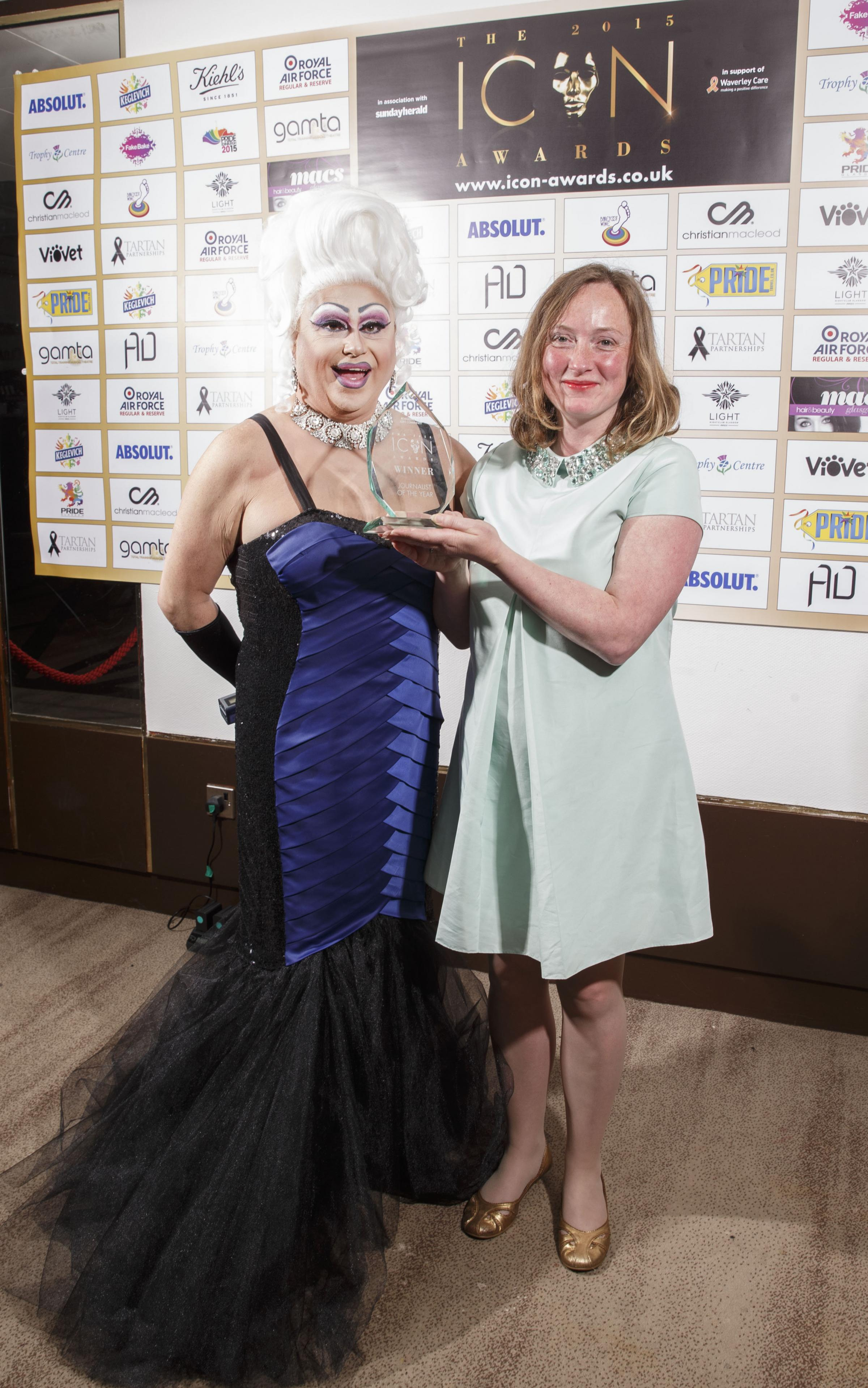 Herald Writer Vicky Alan was a winner at the Icon Awards