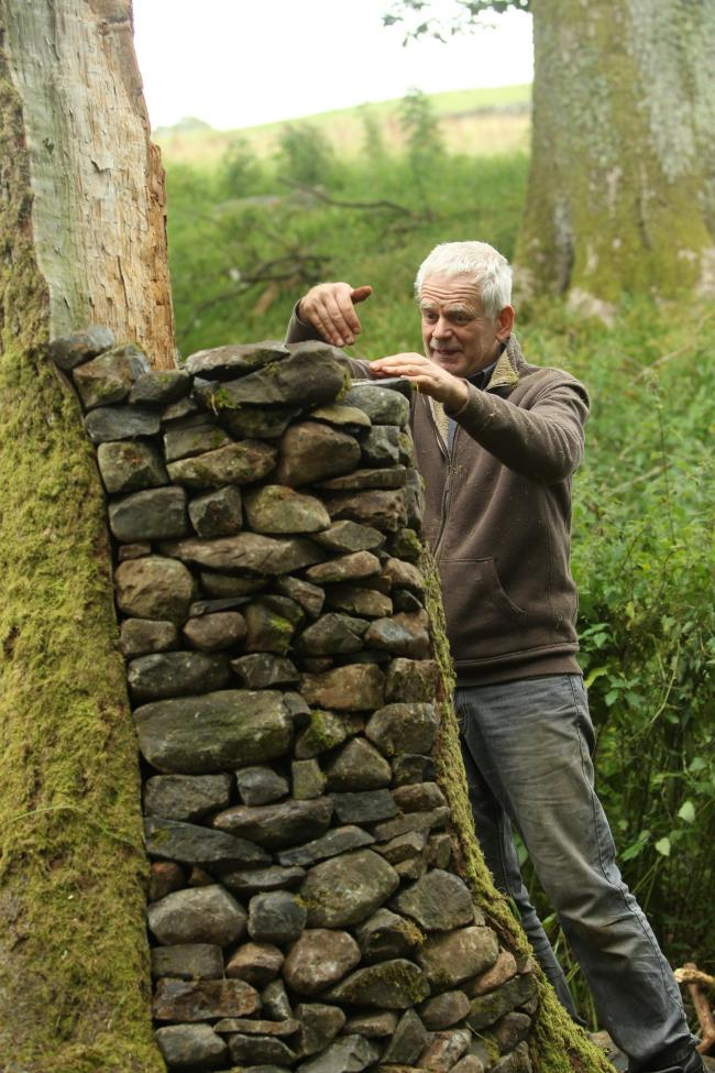 Artist Andy Goldsworthy 1 SA : Artist Andy Goldsworthy works on his latest sculptures in the surrounding fields near his home in Penpoint, Dumfries and Galloway...Picture by Stewart Attwood. (39595567)
