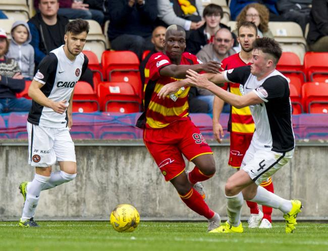 Family club: Mathias Pogba says that he can't wait for congratulatory message from brother Paul upon his first goal for Partick Thistle