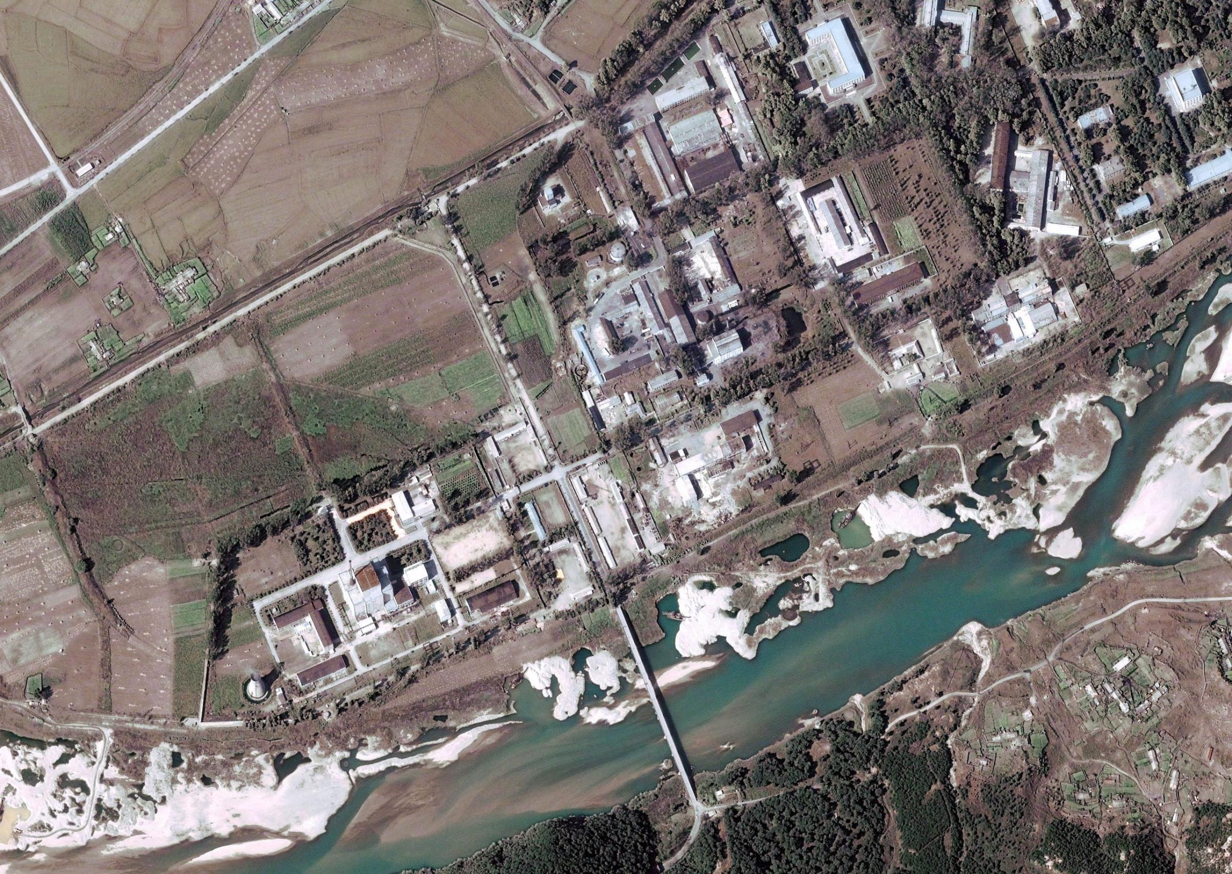 satellite view of Yongbyon Nuclear Scientific Research Center, North Korea