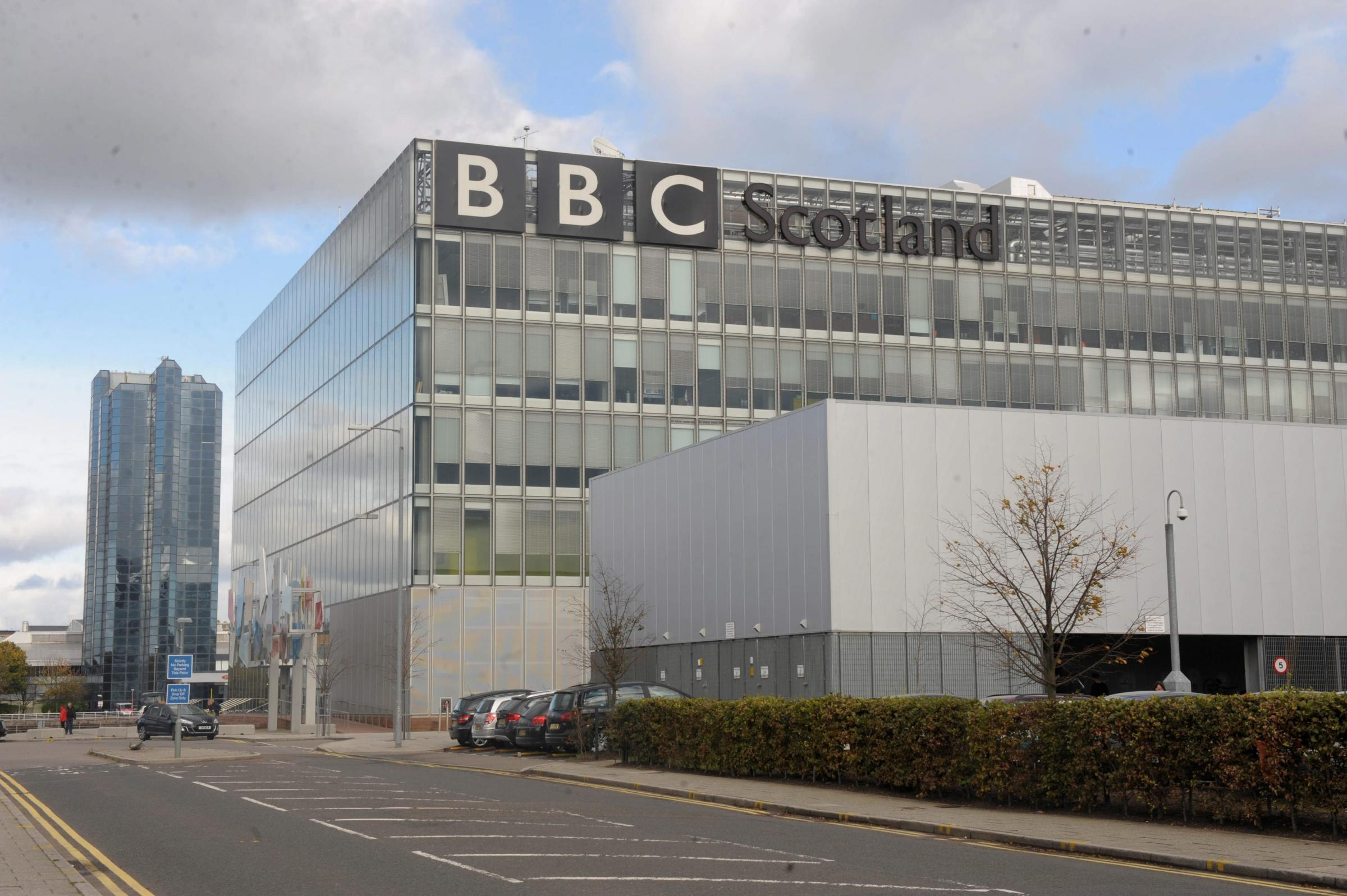 Picture: Kirsty Anderson. The BBC Scotland building at Pacific Quay, Glasgow.