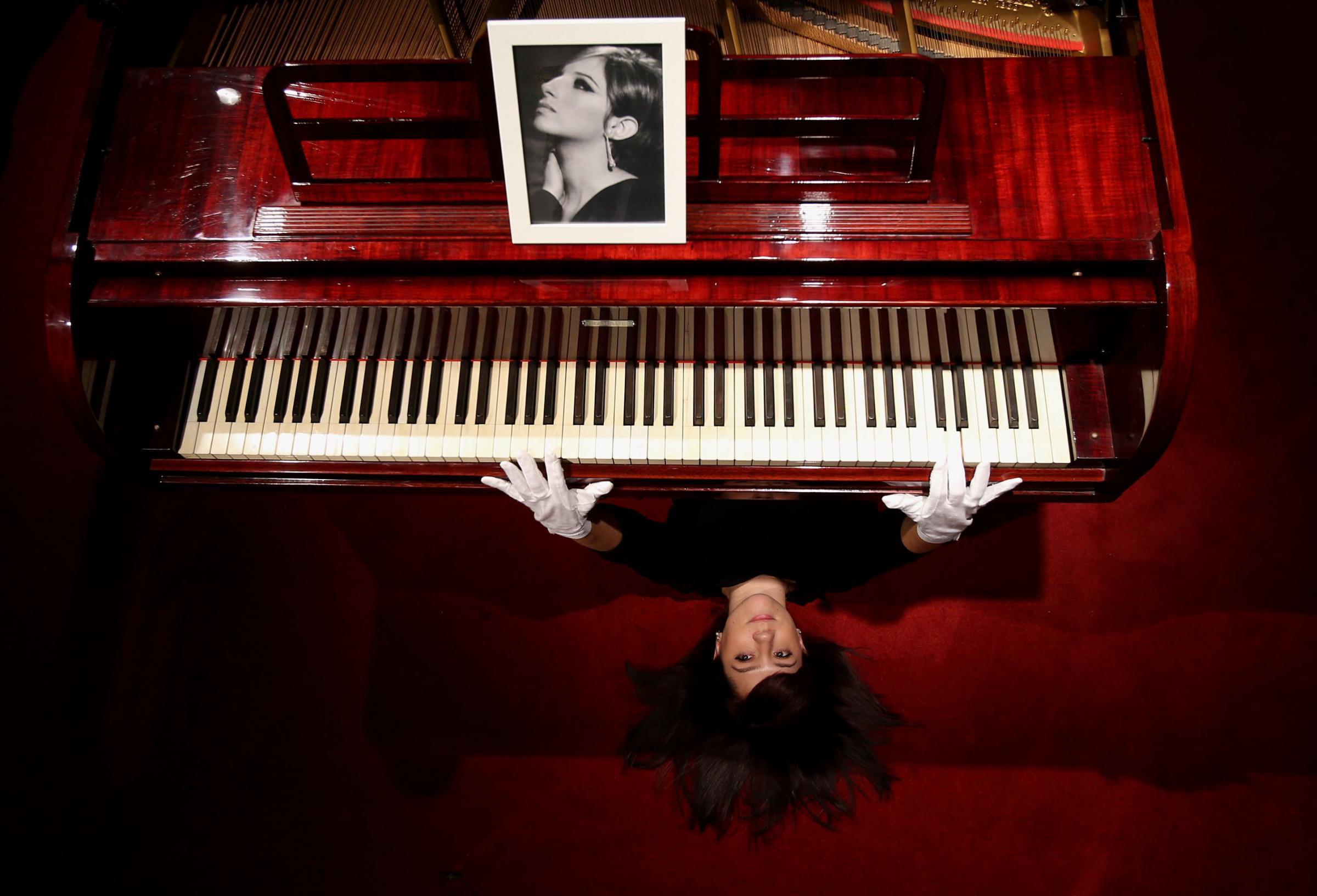 Barbra Streisand piano
