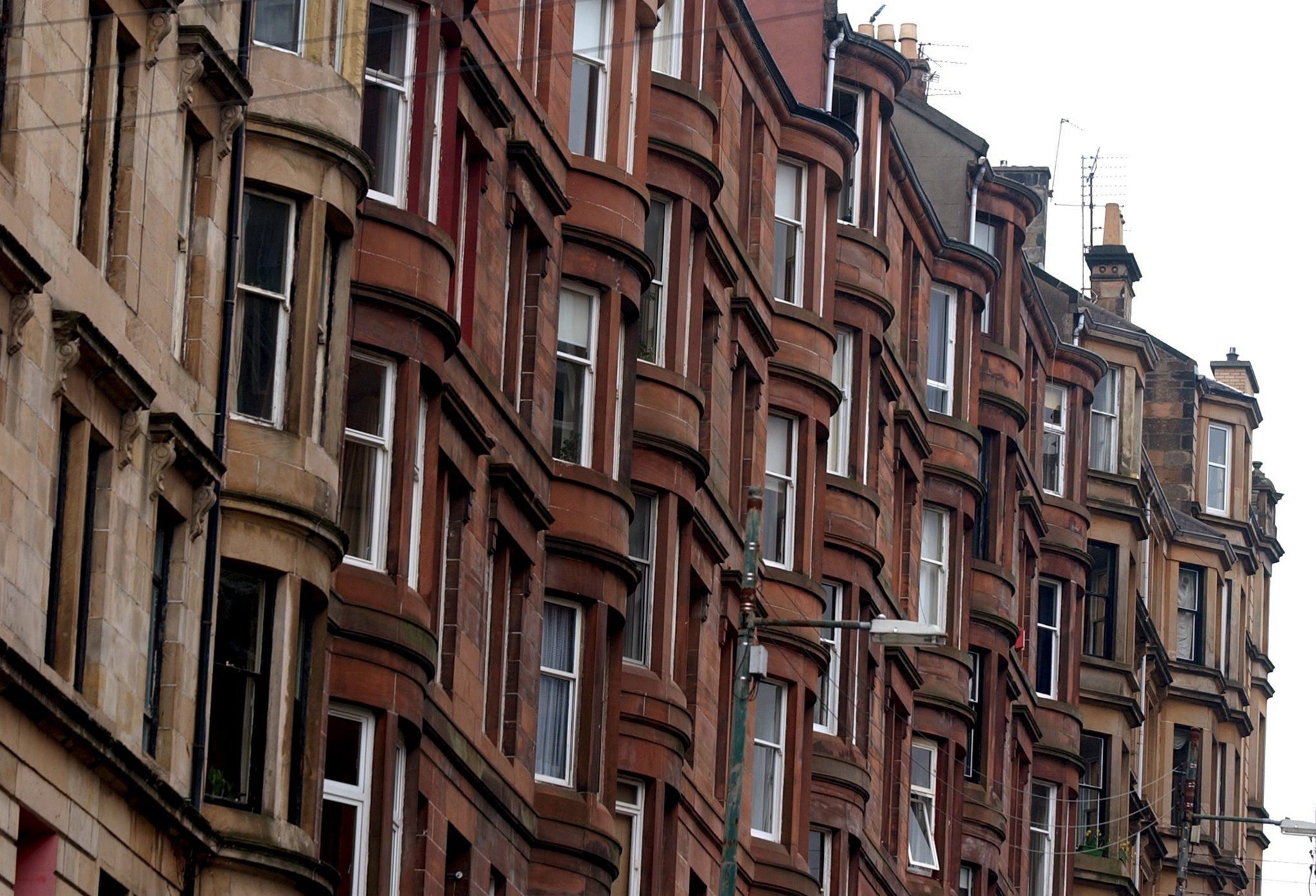 Tenement housing in Glasgow.  Pic Jim Galloway