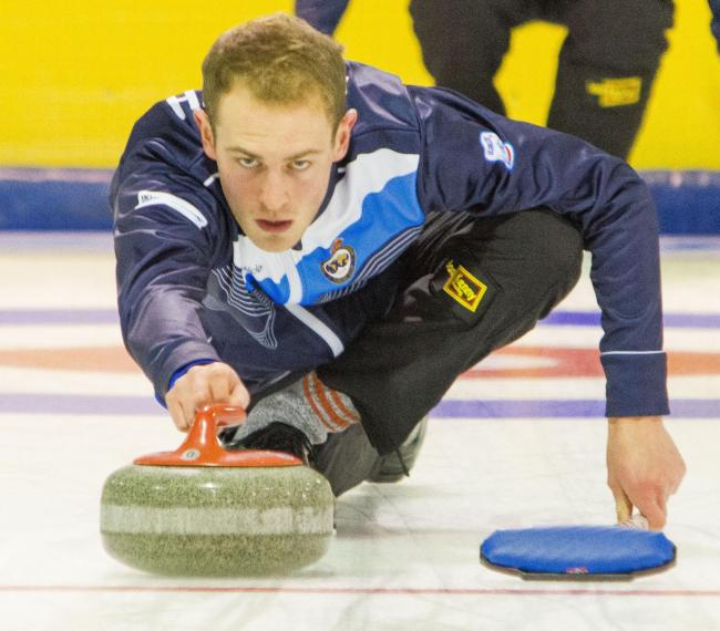 Kyle Smith, skip of the Scottish men's team at the European Curling Championships (pic courtesy of British Curling/Tom J Brydone)