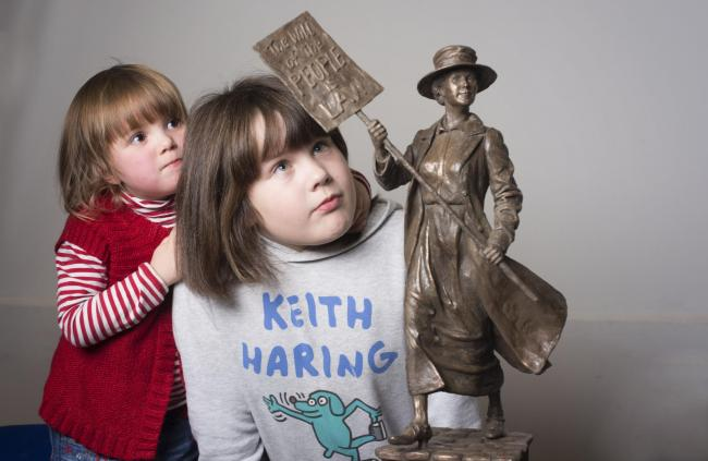 Five short-listed sculptors with their maquettes in a search of the prize of making the historic statue which will remember Glaswegian social pioneer, campaigner and Rent Strike 1915 leader Mary Barbour.  photograph Julie Howden