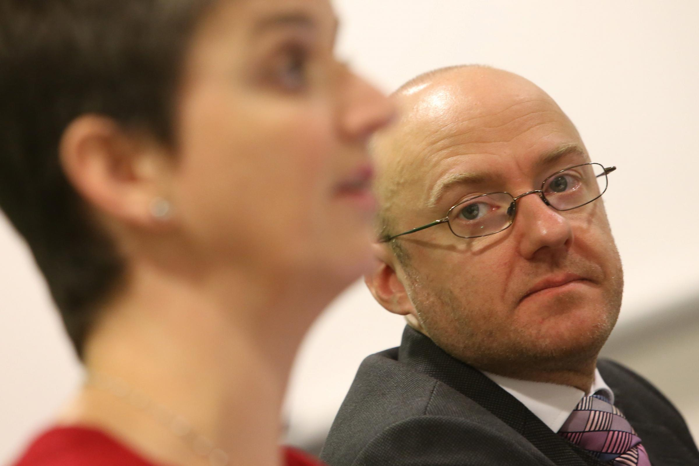 Scottish Greens Party Leader Patrick Harvie and Maggie Chapman.Photographer Stewart Attwood