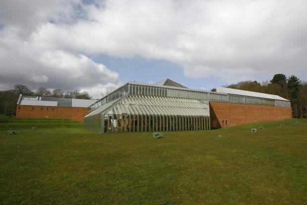 HeraldScotland: Exterior  view of the Burrell Collection in Pollok Park