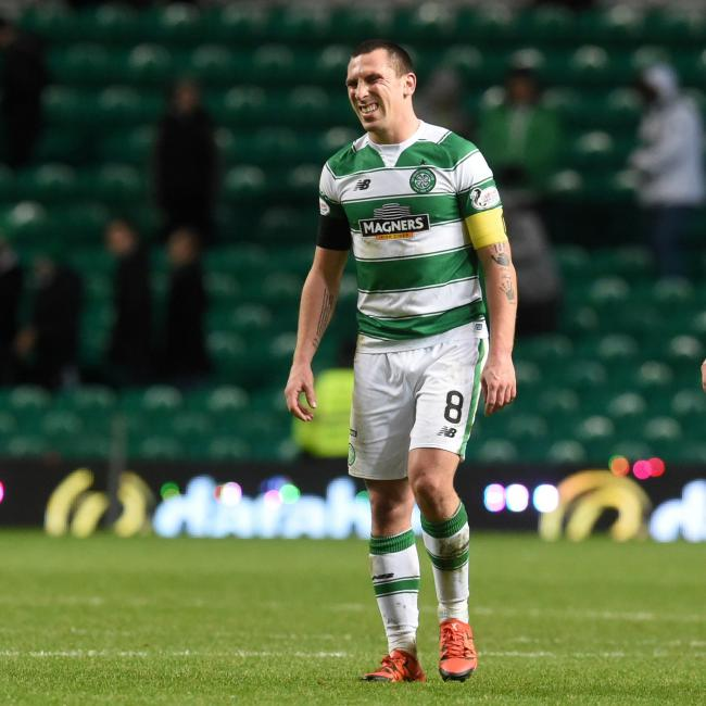 Celtic captain Scott Brown damaged his ligaments against Kilmarnock on Saturday.