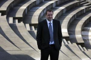 MSP Neil Findlay pictured near the Scottish Parliament 29/3/12.