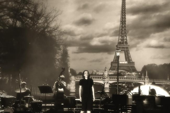 Anne Carrere on the set of Piaf! The Show (54072658)