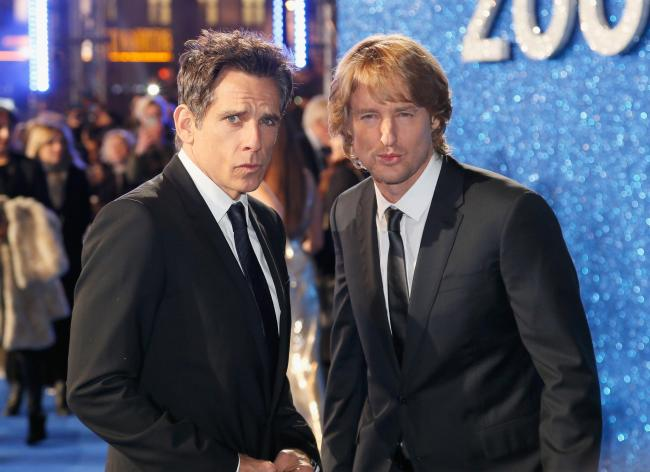Ben Stiller and Owen Wilson offer a glimpse of Blue Steel while attending a London fan screening of Zoolander No. 2