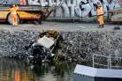 Five Britons die after car plunges 82ft into canal in Sweden