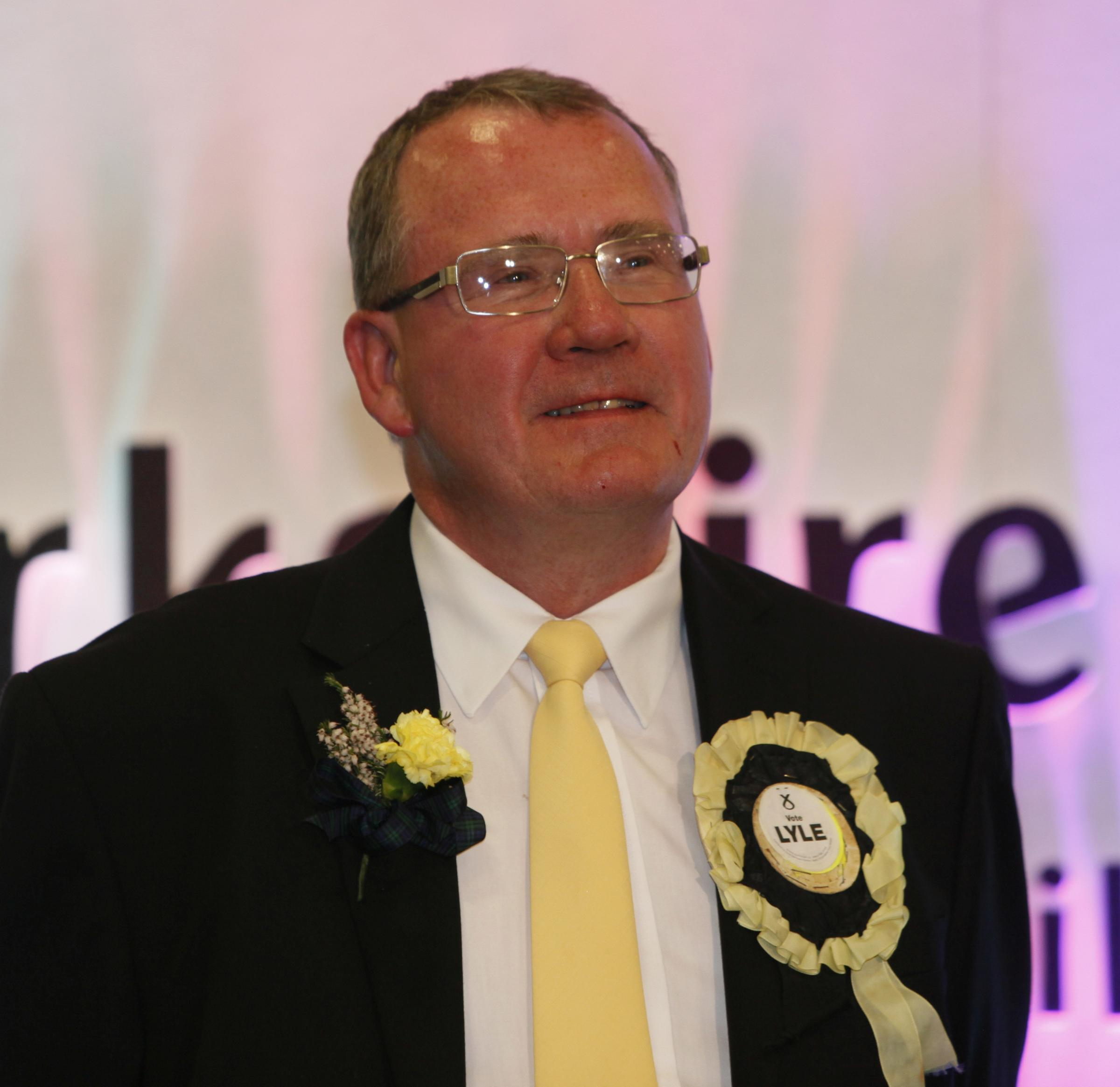 Richard Lyle at the 2011 Holyrood election
