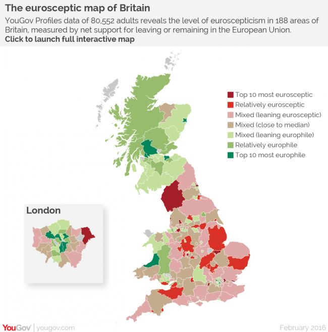 The eurosceptic map of Britain
