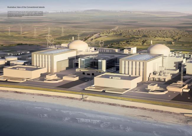 An artist's impression of the how the new Hinkley Point C power station will look