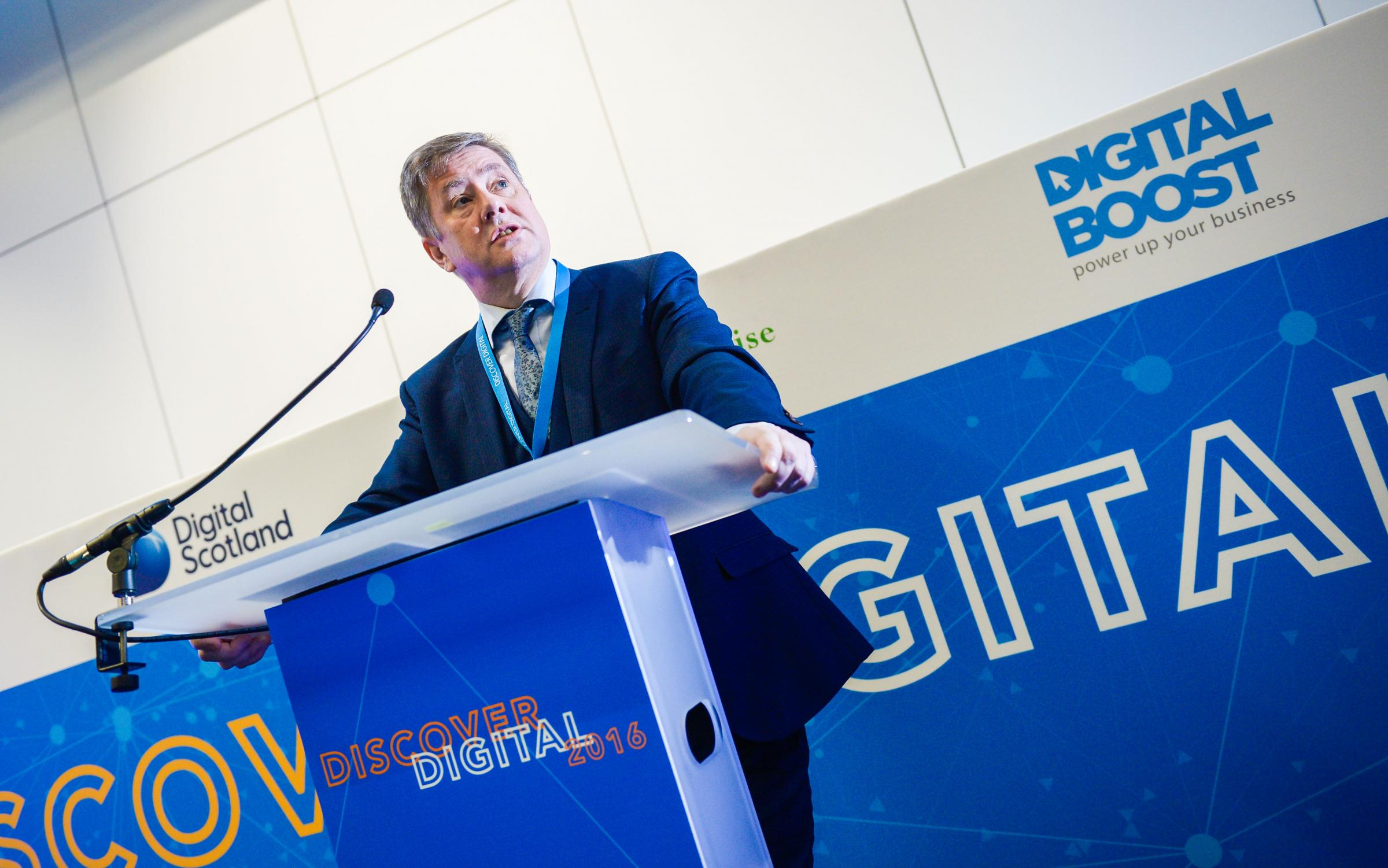 Keith Brown, Scottish cabinet secretary for infrastructure, investment and cities, opening Discover Digital 2016