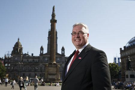 HeraldScotland: Labour Councillor Frank McAveety at George Square.