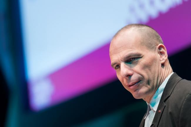 Yanis Varoufakis speaking in Edinburgh on Friday