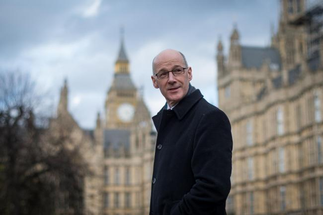 Deputy First Minister of Scotland John Swinney in Westminster