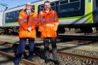 ScotRail Alliance Communications Director Rob Shorthouse with Train Crew Supervisor Jack Carden