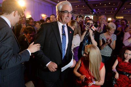HeraldScotland: Leader of the Better Together campaign, Alistair Darling, speaks to the press at the campaign headquarters at the Marriott Hotel, Glasgow, on on September 19, 2014 - the day after the independence referendum.
