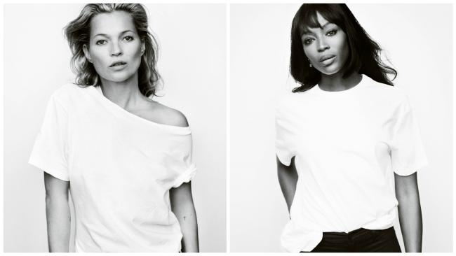 Kate Moss and Naomi Campbell photographed by Mario Testino for Fashion Targets Breast Cancer campaign