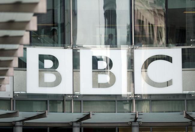 The BBC logo at Broadcasting House in London. (Jonathan Brady/PA Wire)