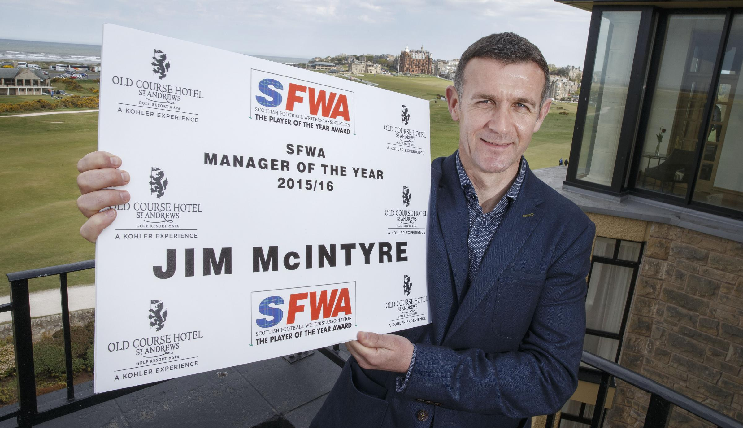 Jim McIntyre – voted manager of the year by the Scottish Football Writers' Association. Picture: Steve Welsh