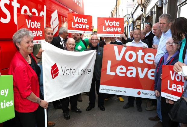 HeraldScotland: LEAVE: Gisela Stewart, who fronts the 'Vote Leave' campaign in Worcester.