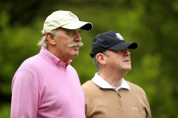 HeraldScotland: Dermot Desmond, left, and JP McManus at the Dubai Duty Free Irish Open.