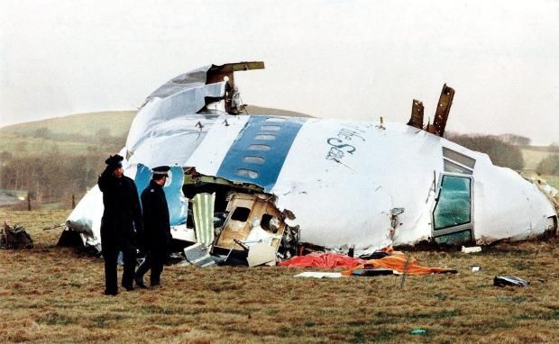 HeraldScotland: The nose cone of Pan Am Flight 103 after the plane was blown out of the sky above Lockerbie in December 1988 with the loss of 270 lives NEWSQUEST MEDIA GROUP