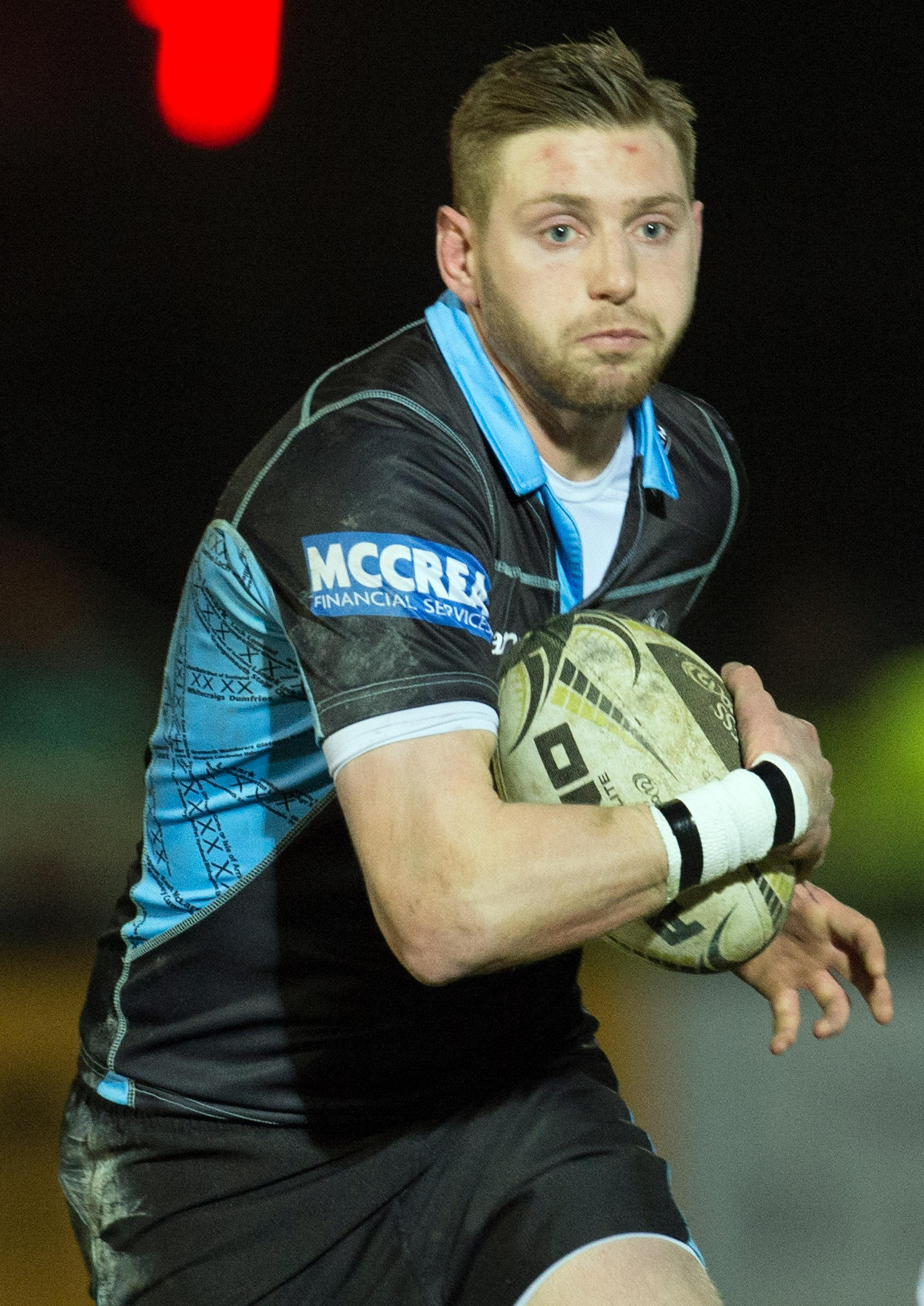 Finn Russell is in hospital after sustaining a serious injury
