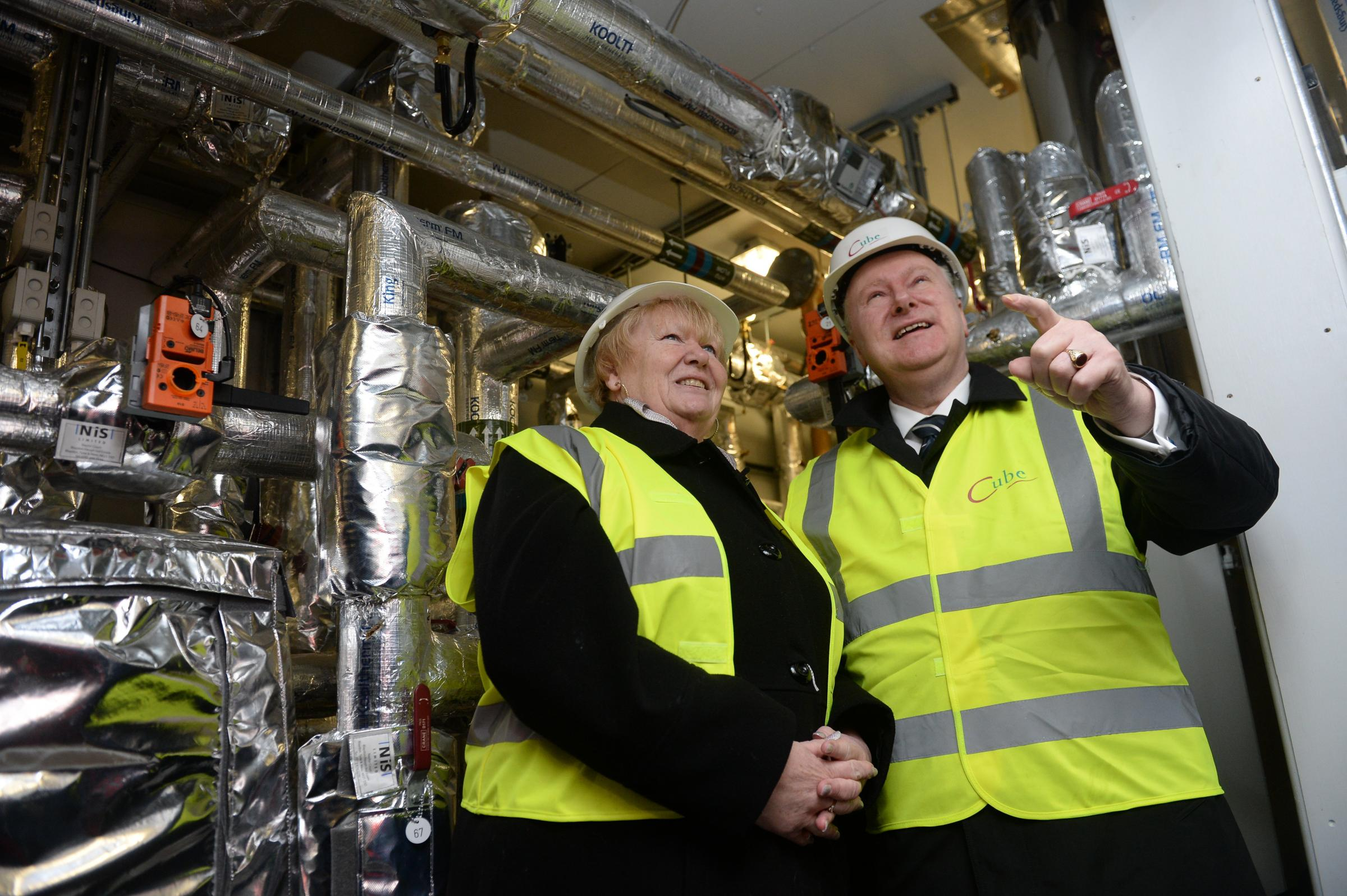Former SNP minister Alex Neil unveiled a £10.6 district heating scheme, designed to help elp reduce the heating bills of more than 700 households in Glasgow, in January