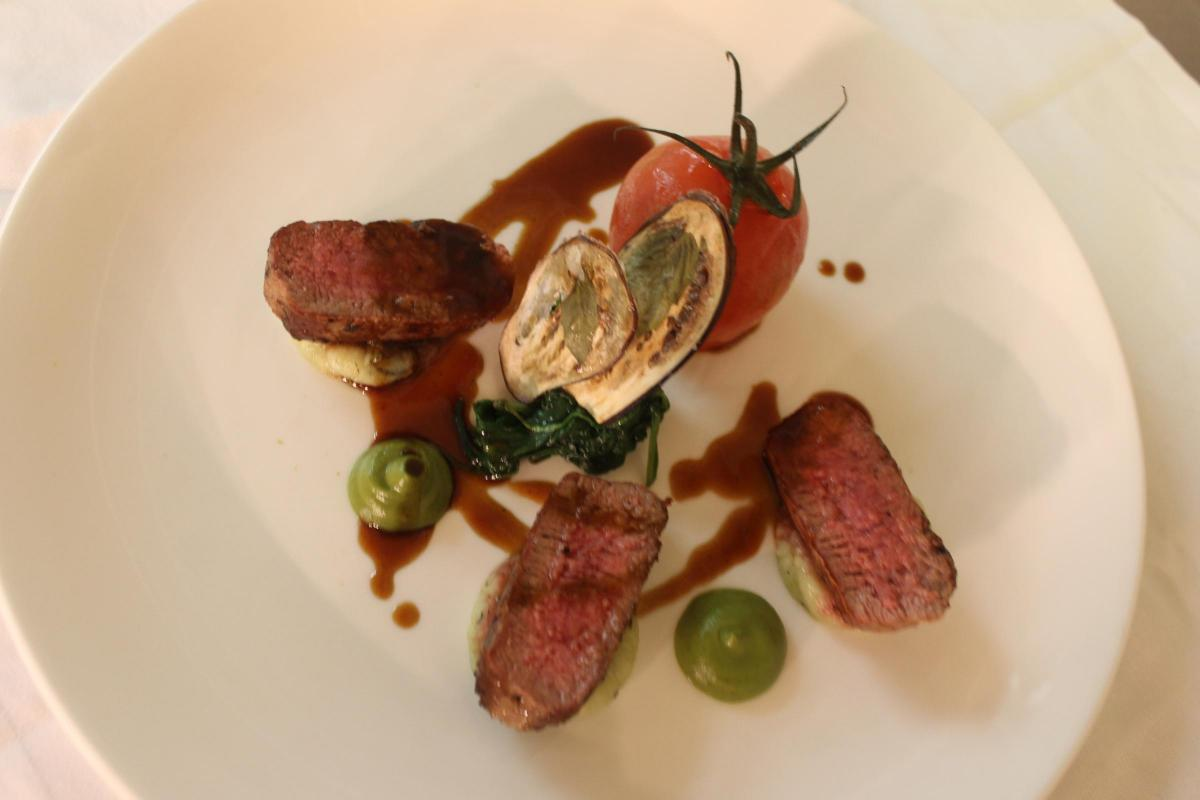 Recipe Of The Day Loin Of Lamb With Courgette Basil Puree Pesto Mash And Lamb Sauce Heraldscotland