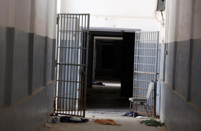 epa02895968 A view of a corrdior and opened cell doors inside Abu Salim prison, Tripoli, Libya, 03 september 2011. According to media reports, Libyan rebels had announced on late 24 August seizing Tripoli's Abu Salim district where pro-Gaddafi fighter