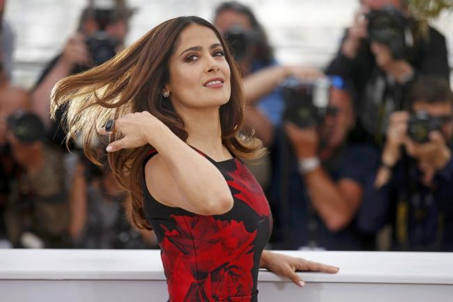 "Cast member Salma Hayek poses during a photocall for the film ""Tale of Tales"" in competition at the 68th Cannes Film Festival in Cannes, southern France, May 14, 2015.      REUTERS/Benoit Tessier."