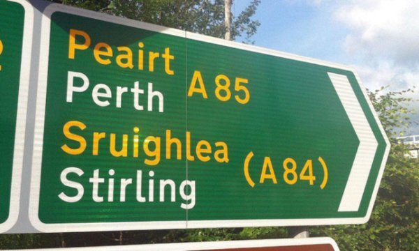 Gaelic Road Signs