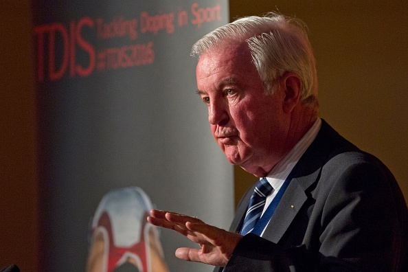 President of the World Anti-Doping Agency (WADA), Craig Reedie speaks at a Tackling Doping in Sport 2016 conference in London on March 9, 2016. WADA's current president Craig Reedie urged the Russian Anti-doping Agency (RUSADA) to allow two independen