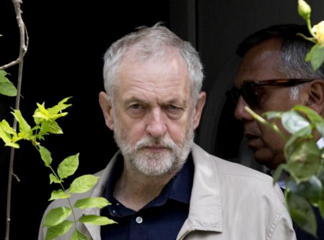 Labour leader Jeremy Corbyn leaves his house in London (Isabel Infantes/PA Wire)