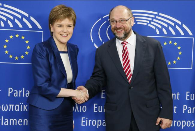 Nicola Sturgeon holds Brussels talks to set out Scotland's EU position